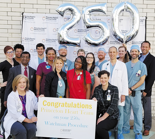 Princeton Baptist Medical Center Marks 250th WATCHMAN™ Procedure